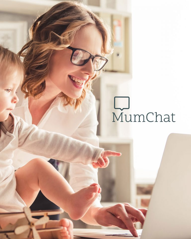 MumChat logo and website design